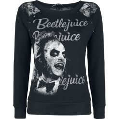 Bluzy rozpinane damskie: Beetlejuice Betelgeuse Bluza czarny