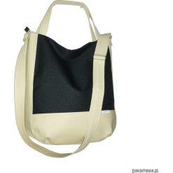 Shopper bag damskie: 5714 ankate, czarna torba na ramie, czarny worek