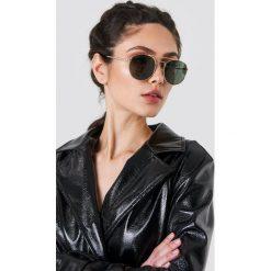 Le Specs Okulary przeciwsłoneczne Revolution - Gold. Brązowe okulary przeciwsłoneczne damskie aviatory marki Le Specs, okrągłe. Za 242,95 zł.