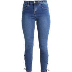 New Look TILLY UP  Jeans Skinny Fit mid blue. Czarne jeansy damskie marki New Look, z materiału, na obcasie. W wyprzedaży za 134,10 zł.