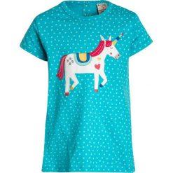 Odzież damska: Frugi KIDS SOPHIE APPLIQUE Tshirt z nadrukiem turquoise