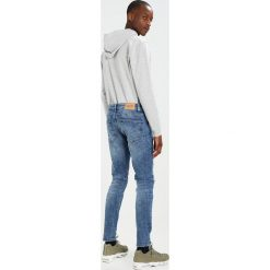 Only & Sons ONSWARP Jeans Skinny Fit blue denim. Brązowe rurki męskie marki Only & Sons, l, z poliesteru. Za 129,00 zł.