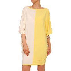 Sukienki hiszpanki: Sukienka w kolorze żółto-ecru