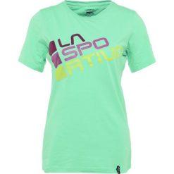 La Sportiva SQUARE Tshirt z nadrukiem jade green. Zielone t-shirty damskie La Sportiva, xs, z nadrukiem, z bawełny. Za 159,00 zł.
