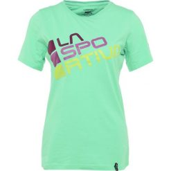 Topy sportowe damskie: La Sportiva SQUARE Tshirt z nadrukiem jade green