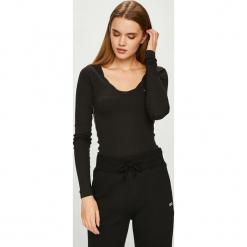 Tommy Jeans - Bluzka. Czarne bluzki asymetryczne Tommy Jeans, l, z dzianiny, casualowe. Za 159,90 zł.