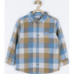 Koszula. Szare koszule chłopięce z długim rękawem MOTORCYCLE CLUB, z bawełny. Za 69,90 zł.