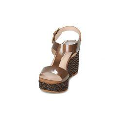 Sandały Spiral  PAULA. Brązowe sandały damskie Spiral. Za 398,30 zł.
