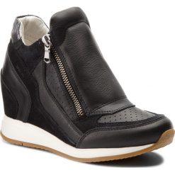 Sneakersy GEOX - D Nydame A D620QA 08522 C9999 Black. Czarne sneakersy damskie Geox, z materiału. W wyprzedaży za 349,00 zł.
