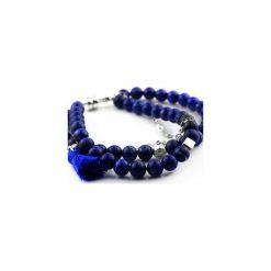 Bransoletki damskie na nogę: Bransoletka Lapis Lazuli srebro