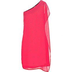 Sukienka na jedno ramię bonprix magenta. Fioletowe sukienki balowe marki bonprix. Za 89,99 zł.