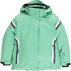 Kurtka narciarska w kolorze miętowym. Niebieskie kurtki dziewczęce przeciwdeszczowe marki CMP Kids, z materiału. W wyprzedaży za 207,95 zł.