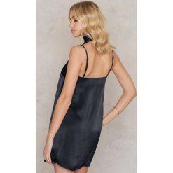 Apaszki damskie: Tranloev Mini sukienka bieliźniana z apaszką – Black