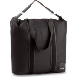 Shopper bag damskie: Torebka CALVIN KLEIN BLACK LABEL – Fluid Large Shopper K60K604040  001