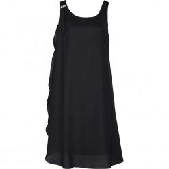 Sukienka z kryształami Swarovskiego® bonprix czarny. Czarne sukienki na komunię bonprix, z szyfonu. Za 109,99 zł.