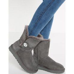 UGG BAILEY Śniegowce grey. Szare buty zimowe damskie Ugg, z materiału. Za 1069,00 zł.
