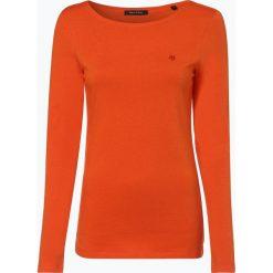 Marc O'Polo - Damska koszulka z długim rękawem, pomarańczowy. Brązowe t-shirty damskie Marc O'Polo, s, z bawełny, polo. Za 129,95 zł.