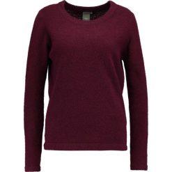 Swetry klasyczne damskie: ICHI MERCUNA  Sweter windsor wine
