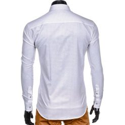 Koszule męskie na spinki: KOSZULA MĘSKA Z DŁUGIM RĘKAWEM K412 – BIAŁA