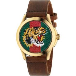 ZEGAREK GUCCI YA126497. Brązowe zegarki męskie GUCCI. Za 3590,00 zł.