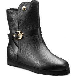 Botki BALDININI - 749601AFABG00 R Tron.D.Fantasy/Bulgaro Nero. Czarne buty zimowe damskie Baldinini, ze skóry. W wyprzedaży za 1109,00 zł.
