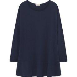 Koszulka w kolorze granatowym. Niebieskie bluzki damskie American Vintage, s, z bawełny, z okrągłym kołnierzem, z długim rękawem. W wyprzedaży za 86,95 zł.