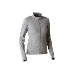 Bluza na zamek Gym & Pilates 100 damska. Szare bluzy rozpinane damskie marki DOMYOS, xl, z bawełny. Za 54,99 zł.