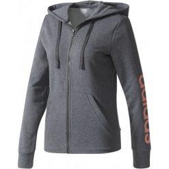 Adidas Bluza Ess Linear Full Zip Hoodie Dark Grey Heather Xs. Brązowe bluzy sportowe damskie Adidas, xs, z bawełny, z kapturem. W wyprzedaży za 179,00 zł.