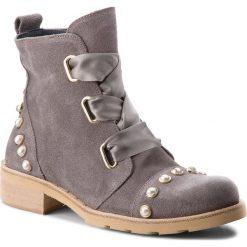 Botki EVA MINGE - Tomelloso 3H 18JS1372517ES 209. Szare buty zimowe damskie marki Eva Minge, ze skóry, na obcasie. Za 649,00 zł.