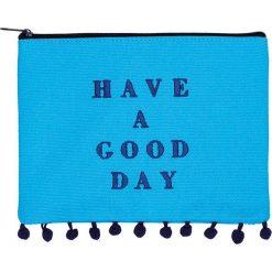 """Kosmetyczki damskie: Kosmetyczka """"Watercolor – Good Day"""" w kolorze niebieskim – 20 x 15 cm"""
