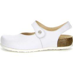 """Sandały damskie: Skórzane sandały """"Julia"""" w kolorze białym"""