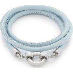 """Bransoletki damskie na nogę: Skórzana bransoletka """"Simpatia Darlin's"""" w kolorze błękitnym"""