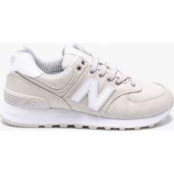 New Balance - Buty WL574CHG. Szare buty sportowe damskie marki New Balance, z gumy. W wyprzedaży za 279,90 zł.