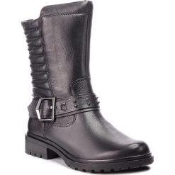 Kozaki TAMARIS - 1-25908-31 Black 001. Czarne buty zimowe damskie Tamaris, z materiału, na obcasie. Za 399,90 zł.