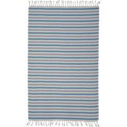 Kąpielówki męskie: Ręcznik w kolorze szaro-niebiesko-fioletowym