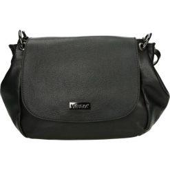 Torba - A-9017-O S NE. Czarne torebki klasyczne damskie Venezia, ze skóry. Za 389,00 zł.
