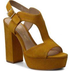 Rzymianki damskie: Sandały BRUNO PREMI – Camoscio K2605P  Ocra