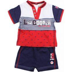 T-shirty chłopięce z krótkim rękawem: 2-częściowy zestaw w kolorze czerwono-niebiesko-białym