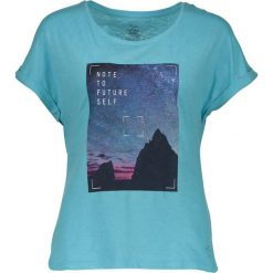 """Koszulka """"Laidback"""" w kolorze błękitnym. Niebieskie topy sportowe damskie Dare2b Women Fitness & Bike, z nadrukiem, z bawełny. W wyprzedaży za 65,95 zł."""