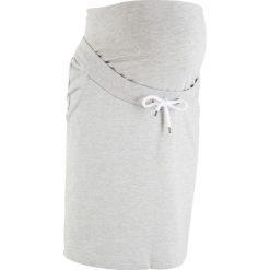 Spódnica dresowa ciążowa bonprix jasnoszary melanż. Szare spódnice ciążowe marki bonprix, melanż, z dresówki, moda ciążowa. Za 59,99 zł.