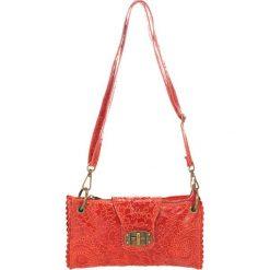 Torebki klasyczne damskie: Skórzana torebka w kolorze czerwonym – 24 x 14 x 5 cm