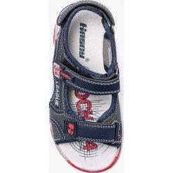 Hasby - Sandały dziecięce. Szare sandały chłopięce HASBY, z materiału. W wyprzedaży za 39,90 zł.