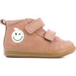 Wysokie buty sportowe na rzep BOUBA WINK SCRATCH. Czerwone buty sportowe dziewczęce marki La Redoute Collections, z materiału, na obcasie, na sznurówki. Za 319,16 zł.