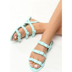 Miętowe Sandały Little Rock. Zielone sandały damskie Born2be, z lakierowanej skóry, na obcasie. Za 39,99 zł.