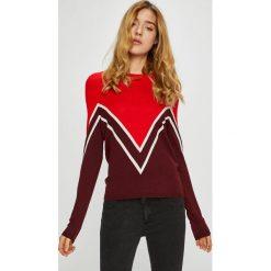 Only - Sweter Holli. Brązowe swetry klasyczne damskie ONLY, l, z dzianiny, z okrągłym kołnierzem. Za 119,90 zł.