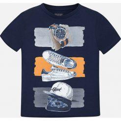 Mayoral - T-shirt dziecięcy 128-172 cm. Szare t-shirty chłopięce z nadrukiem marki bonprix, m, z dzianiny, z kontrastowym kołnierzykiem. Za 59,90 zł.