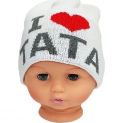 Czapka niemowlęca z napisem tata CZ 160B. Różowe czapeczki niemowlęce Proman, z napisami. Za 30,75 zł.