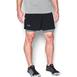 Bermudy męskie: Under Armour Spodenki męskie Qualifier 2-in-1 Shorts Black r. XL (12896251)