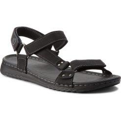 Sandały LANETTI - MS17016-1 Czarny. Czarne sandały męskie skórzane Lanetti. Za 69,99 zł.