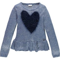 Mek - Sweter dziecięcy 128-170 cm. Szare swetry dziewczęce Mek, z dzianiny, z okrągłym kołnierzem. W wyprzedaży za 159,90 zł.